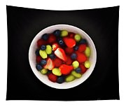 Still Life Of A Bowl Of Fresh Fruit Salad. Tapestry