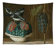 Still Life Of Grapes With A Gray Shrike Tapestry