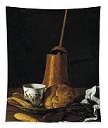 Still Life With A Chocolate Service Tapestry