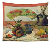 Still Life With A Fan Tapestry