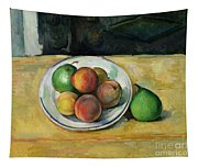 Still Life With A Peach And Two Green Pears Tapestry