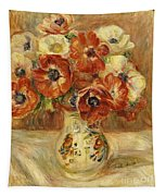 Still Life With Anemones  Tapestry