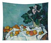 Still Life With Apples And A Pot Of Primroses, 1890 Tapestry
