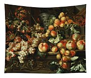Still Life With Apples And Grapes Tapestry