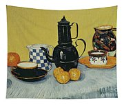 Still Life With Blue Enamel Coffeepot, Earthenware And Fruit, 1888 Tapestry