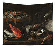 Still Life With Fish And Oysters  Tapestry