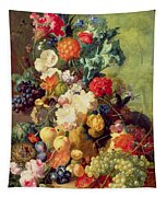 Still Life With Flowers And Fruit Tapestry
