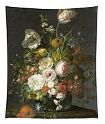 Still Life With Flowers In A Glass Vase Tapestry