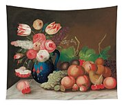 Still Life With Fruit And Flowers Tapestry