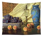 Still Life With Peaches Tapestry