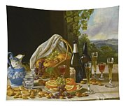 Still Life With Wine And Fruit Tapestry