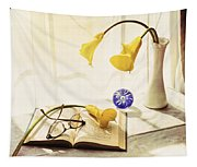 Still Life - Yellow Calla Lilies Tapestry