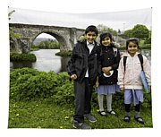 Stirling School Children By The Medieval Bridge  Tapestry