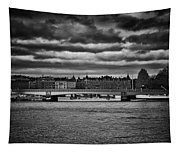 Stockholm In Black And White Tapestry