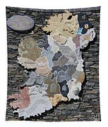 Stone Map Of Ireland Tapestry