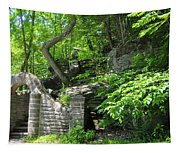 Stone Stairway Along The Wissahickon Creek Tapestry