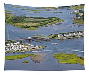 Stopping Traffic Topsail Island Tapestry