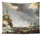 Storm At Sea Tapestry