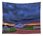 Storm At Sunset Tapestry