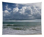 Storm Clouds Above The Atlantic Ocean Tapestry
