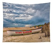 Storm Clouds In Stone Harbor Tapestry