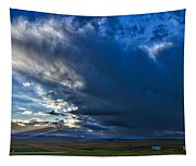 Storm Clouds Over Farmland #2 - Iceland Tapestry