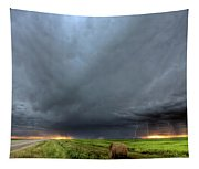 Storm Clouds Over Saskatchewan Tapestry