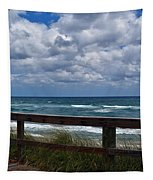 Storm Clouds Over The Beach Tapestry