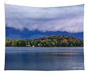 Storm Clouds Over The Lake Of Bays Tapestry