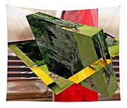Storm Damage And Tail Light As Art Tapestry