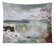 Storm In Niagara Falls  Tapestry