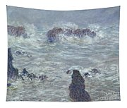Storm Off The Coast Of Belle Ile Tapestry