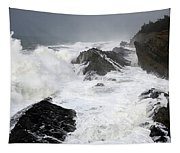 Storm On The Oregon Coast Tapestry
