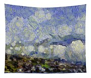 Storm Over Shore Tapestry
