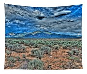 Storm Over Taos Mountain Tapestry