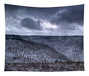 Storm Over The Mesa Tapestry