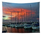 Storm Over The Newport Harbor Tapestry