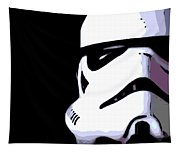 Storm Trooper In Black And White Tapestry