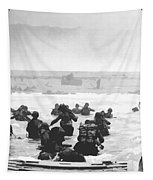 Storming The Beach On D-day  Tapestry by War Is Hell Store