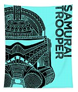 Stormtrooper Helmet - Blue - Star Wars Art Tapestry