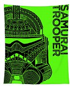 Stormtrooper Helmet - Green - Star Wars Art Tapestry