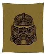 Stormtrooper Helmet - Star Wars Art - Brown  Tapestry