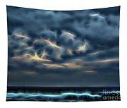 Stormy Beach Tapestry