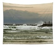 Stormy Fishing Tapestry