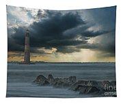 Stormy Morris Island Tapestry