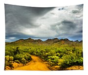 Stormy Road Home Tapestry