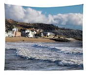Stormy Seafront - Lyme Regis Tapestry