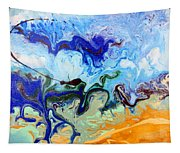 Stormy Seas Abstract #3 Tapestry