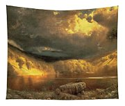 Stormy Skies Above Echo Lake White Mountains  Tapestry