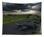 Stormy Sky Over Fort Moultrie Tapestry